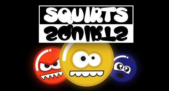 Squirts game title screen